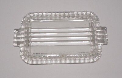 Dish Butter Dish Tray Glass Vintage Collectible #3010