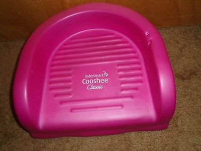 baby smart cooshee classic soft foam pink booster seat infant toddler