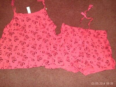 justice girls size -20--2 piece tank and short set--cherries--nwt