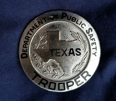 Texas State Police Badge Highway Patrol DPS Department of Public Safety Man Cave