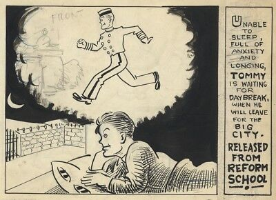 VING FULLER Original Art HOTEL CONTINENTAL Daily Comic Strip Tommy Tipps, 1930s
