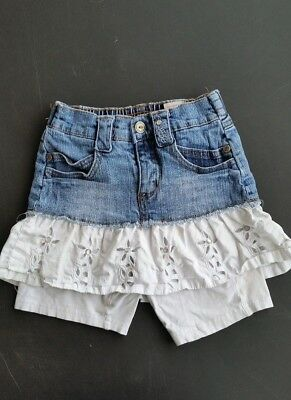 Girls Lana Di Jeans Denim Skirt with attached shorts Size 4