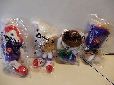 Complete Set Of 4 Dairy Queen Bean Plush Pals Doll SEALED RARE 1999
