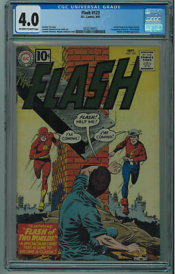 Flash #123 Cgc 4.0 Iconic Flash Of Two Worlds Cover 1St Earth 2 Ow/w Pgs 1961