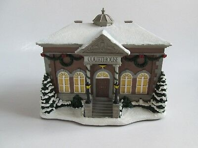 Hawthorne Village Lighted Norman Rockwell Christmas Village Courthouse  2007 NIP