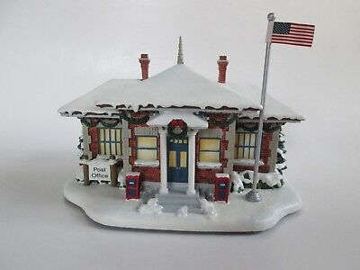 Hawthorne Village Lighted Norman Rockwell Christmas Village Post Office 2004 NIP