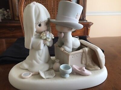 Precious Moments Figurine Heaven Bless Your Togetherness Wedding Bride Groom