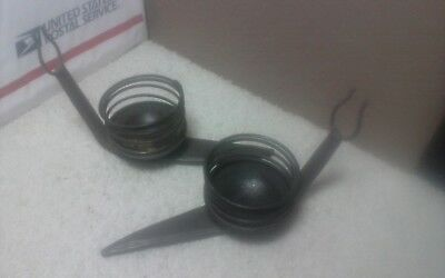 2 way cool wrought iron Snail candle holders,Brutalist,mid century style