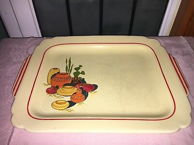 """Vintage 1930's Homer Laughlin Mexicana Fiesta Ware Red 13"""" Large Serving Platter"""