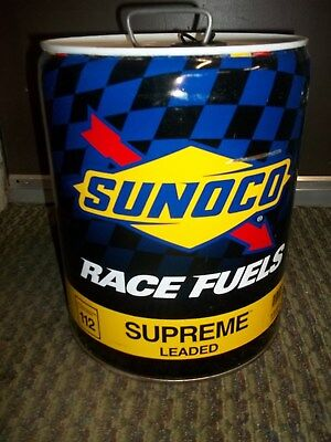 SUNOCO Race Fuels Unleaded 5 gallon fuel can 112 Supreme
