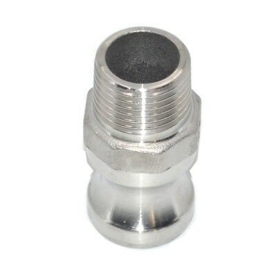 F Trash Pump Adapter Male Camlock x Male Pipe Threads Stainless Steel