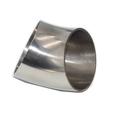 Sanitary Weld Elbow Pipe Fitting 45 Degree Stainless Steel SUS SS304