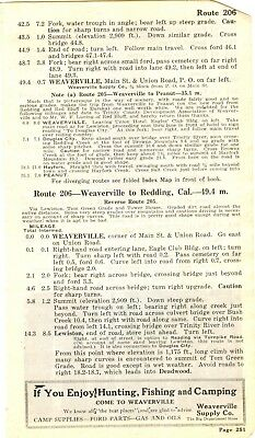 1917 BB8 Ad Weaverville Supply Weaverville California Hunting Fishing Camping