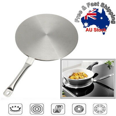 24cm Induction Hob Cooktop Converter Disk Stainless Steel Plate Cookware Pan O