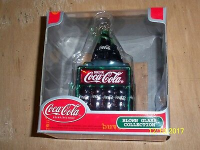 Coca-Cola Blown Glass Collection Ornament Bottles New in Box