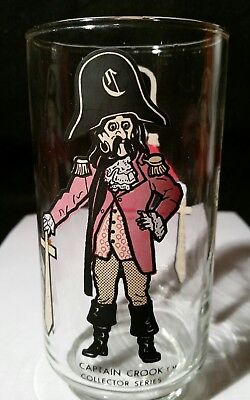 Vintage McDonald's Captain Crook Collector Series Drinking Glass 16 oz