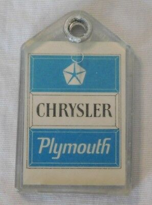 Vintage Chrysler Plymouth Advertising Keychain