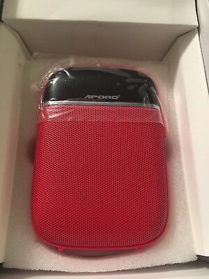 Aporo T2 Bluetooth Smart Voice Amplifier Multi-function Red Megaphone FM