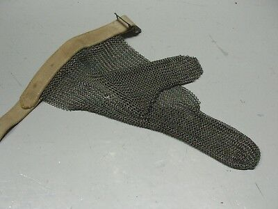 Vintage  Whiting & Davis   Chain   Mail  Two Fingers   Glove Non  Ferrous