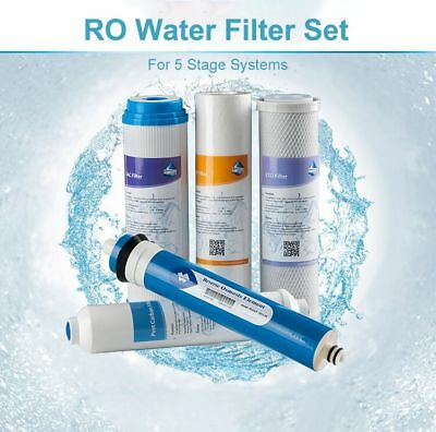 Full 5 stage Reverse Osmosis Replacement Filter set 50G Fit Express Water RO5DX