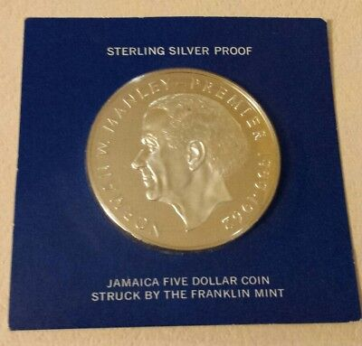1973 Jamaica $5 proof coin sterling silver