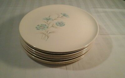 "Set of 8 - Taylor Smith & Taylor Ever Yours Boutonniere  Dinner Plates ""MINT"""