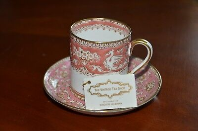VINTAGE 1930s BERGDORF GOODMAN THE VINTAGE TEA CUP ENGLISH DEMI CUP & SAUCER