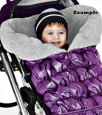 NEW Cute Triboro SootheTime Stroller Wrap & Car Seat Footmuff - Plum/Gray