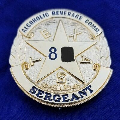 Texas Alcoholic Beverage Commission Badge TABC State Police Liquor Man Cave Beer