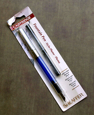 Vintage Sheaffer Fountain Pen-New in package-Blue-Black cartridges- M nib.1990.s