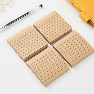 Fashion Kraft Paper Line Planner Stationary Scrapbooking Sticky Notes Memo Pad