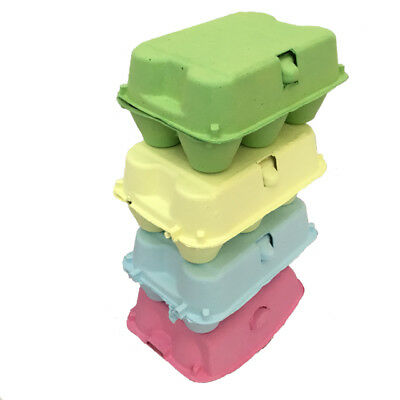 """EASTER EGG CARTON PACK"" 3 YELLOW+3 PINK+3 GREEN+3 BLUE 6s EGG CARTONS CHOCOLATE"