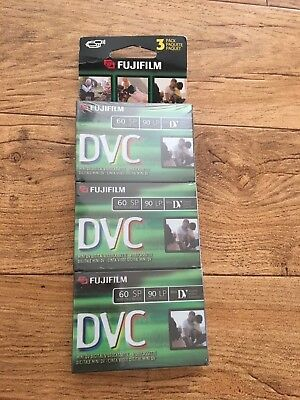 Fujifilm mini digital videocassette DVC 3 pack NEW