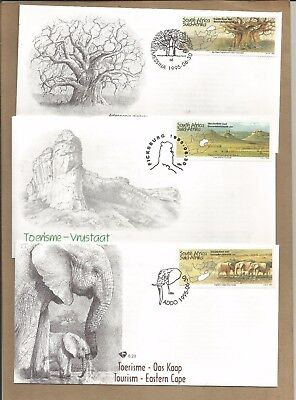 SA:.3 'Tourism' FDC's + Info Cards + 38 diff used + 2 'Homeland' items.(Ref 424)