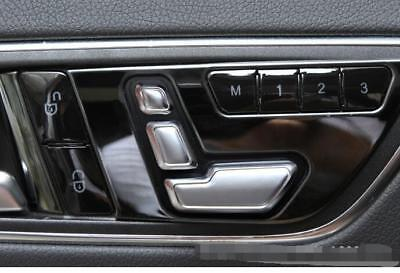Seat Adjust Swith Button Cover Trim 6ps for Benz CLA  2014-17 C-Class w204 10-13