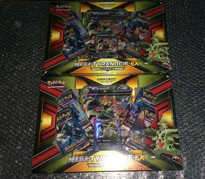POKEMON Cartes Collection MEGA TYRANOCIF EX Coffret x 2 NEUF 100% Français Set H