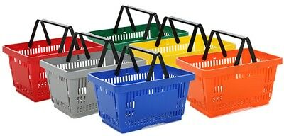22L Shopping Baskets Various Colours & Qty Retail