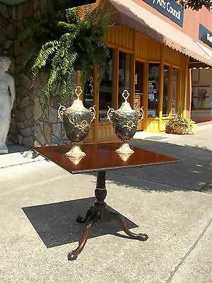 Grand Adam Style Marble Urns With Brass Adornments 20th Century