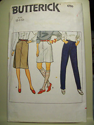Butterick 4703 Misses' Petite Top, Skirt and Pants Pattern Sizes 6-8-10