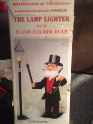 "VERY RARE Telco motion-ette animated Christmas ""THE LANTERN LIGHTER"" w/box"