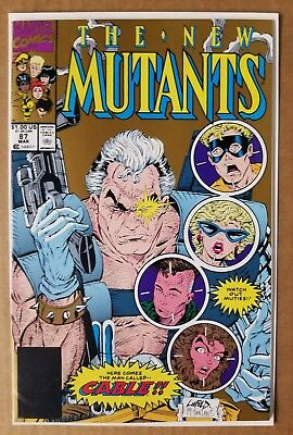 New Mutants 87 1St App Of Cable 2Nd Print Gold Nm Deadpool Movie