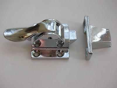 Vintage PERKO Chrome Plated Cupboard Catch NOS #1102  Size 2