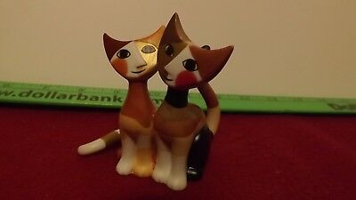"Goebel Wachtmeister Figurine 2 cats 3"" Tall"