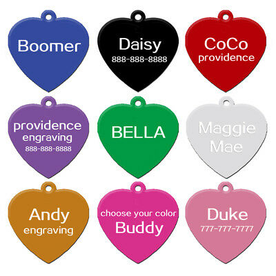 100pcs Heart Shape Dog Tags for Pet Double Sides Engraved Wholesale No Engraving