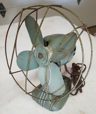 "Vintage DOMINION Electric Fan with 8"" blade SO RETRO"