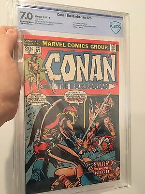 NEW CASE Conan the Barbarian #23 CBCS Graded 7.0 1st Red Sonja Appearance CGC