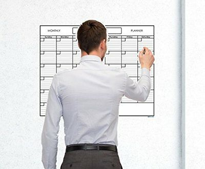 Large Blank Reusable One Month Wall Calendar Wet & Dry Erase Wall Planner 36x48