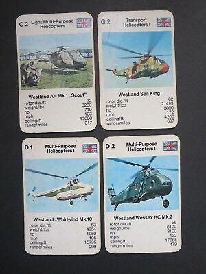 """VINTAGE LOT OF CARDS  """"GREAT BRITAIN HELICOPTERS"""" 1970's to 80's."""