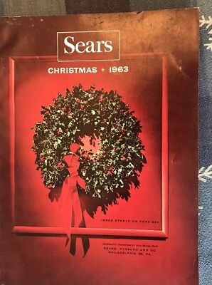 1963 Sears Christmas Catalog ~ Toys Barbie Pyrex Guns Mid Century bar GEM!