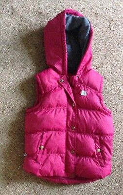 MOUNTAIN WAREHOUSE Girls Hooded Pink Gillet Age 7/8 PERFECT